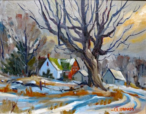 """A Farm At Wilmer 11"""" x 14"""" Oil / Stretched Canvas"""