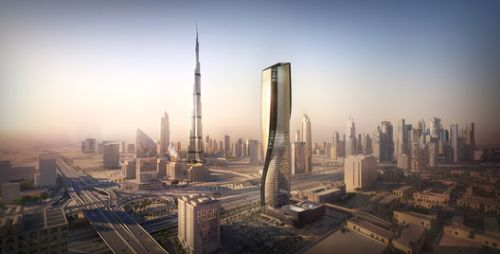 UNStudio Reveals Recent Construction Images of Wasl Tower in Dubai