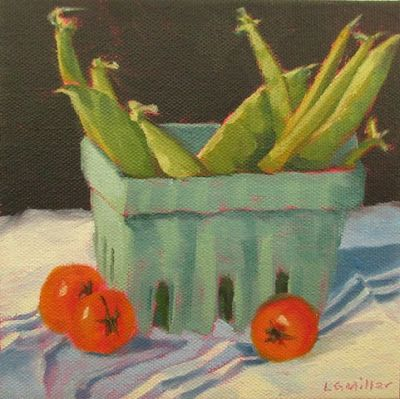 """Garden of Eden Beans"" - 6 x 6 inches - oil on canvas - SOLD"""