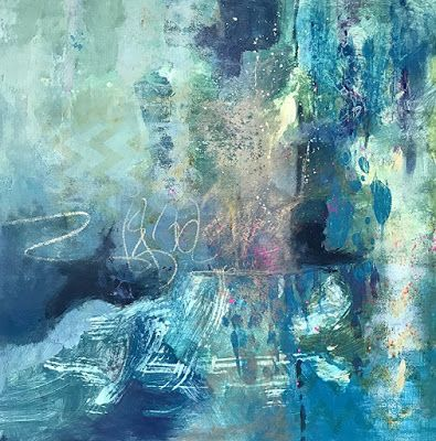 "Contemporary Art, Abstract Painting, Expressionism ""Cool Breeze"" by Contemporary Artist Liz Thoresen"