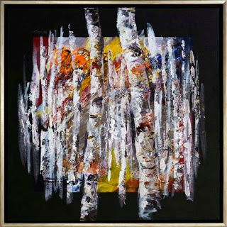 """New """"Floating Expressions"""" Series Aspen Tree Paintings by Niki Gulley"""