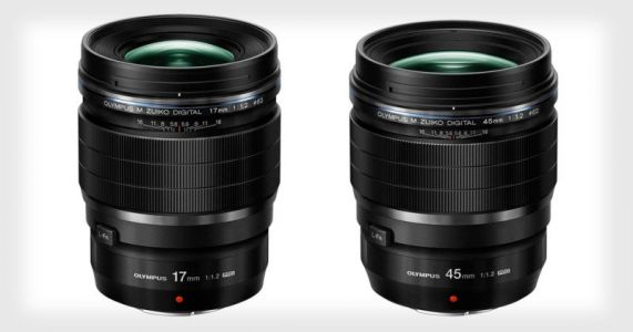 Olympus Unveils 17mm and 45mm f/1.2 Lenses for Micro Four Thirds