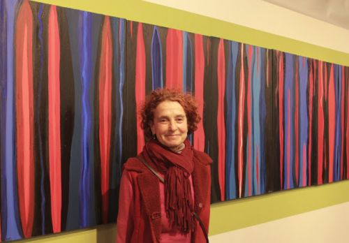 Sofia Carmi. Exhibit Abstract memories and Visions at the Italian Cultural Institute