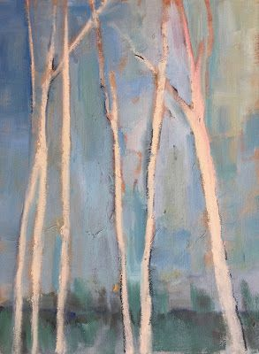 "Contemporary Winter Landscape, ""Winter Trees,"" by Amy Whitehouse"