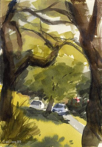 Dealing with Greens in Landscape Watercolor Painting