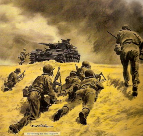 Noel Sickles' Imagined War Scenes