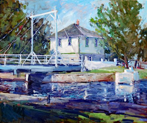 New painting- Brewer's Mills On The Rideau Canal