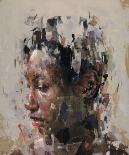 Paint Smudges and Smears Form Abstract Portraits by Kai Samuels-Davis