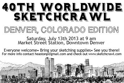 Denver's participation in the 40th Worldwide Sketchcrawl