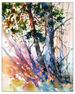 The Amber Of Time..Watercolor.Texas Artist..Rae Andrews