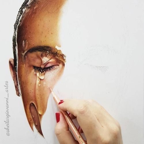 Hyper realistic colored pencil drawingsBrazilian-native Sheila R