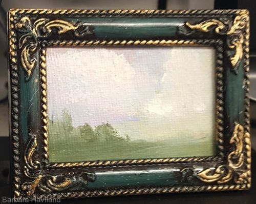 Tiny oil painting, Landscape, Barbara Haviland