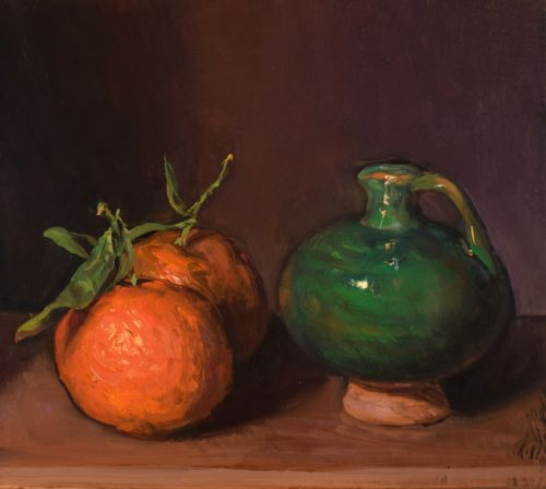 Mandarins with Vase