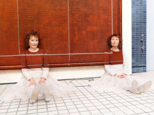 Photos of Custom Hand-Knit Sweaters That Blend People Into Places