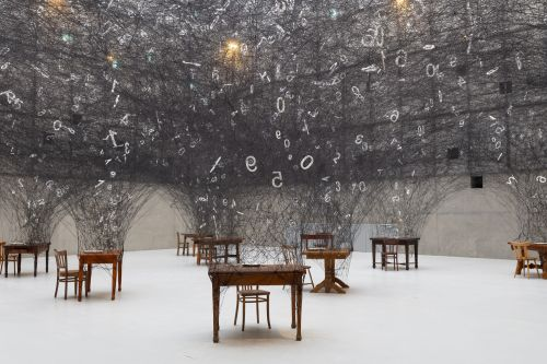 An Interactive Installation by Chiharu Shiota Celebrates the Universality of Numbers