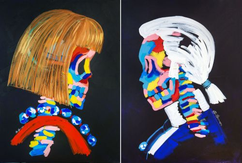 Vibrant Skeletal Interpretations of Celebrities and Fashion Icons Define Bradley Theodore's Paintings
