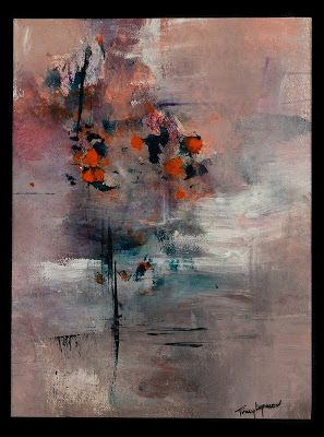 "Abstract Painting, Contemporary Art, Expressionism, Mixed Media ""Awakening II"" by Contemporary Artist Tracy Lupanow"