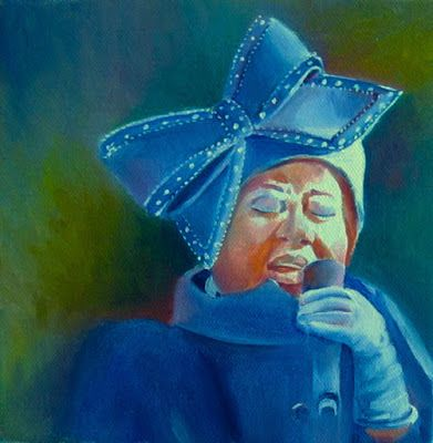 Aretha Frankllin Linda McCoy Oil on canvas