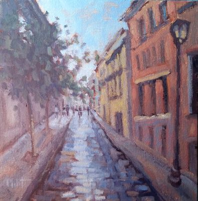 Streets of Italy Original oil Painting Heidi Malott Art