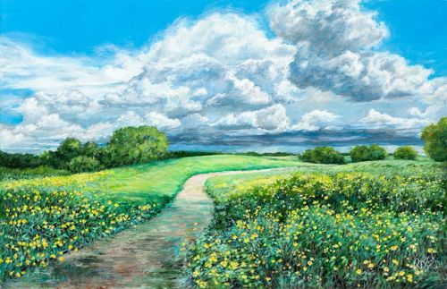 Afternoon Stroll | Texas Landscape by Rebecca Zook