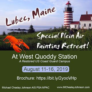 We Have An Opening - Special Plein Air Painting Retreat in Coastal Maine, August 2019