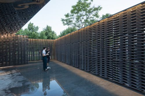 Frida Escobedo's Serpentine Pavilion Photographed by Laurian Ghinitoiu