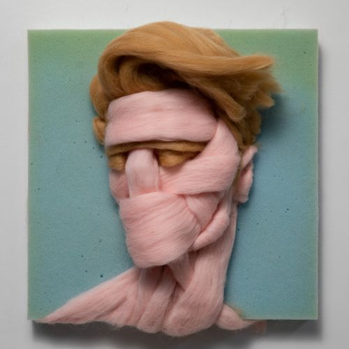 Unspun Wool Sculpted into Intimate Portraits by Artist Salman Khoshroo