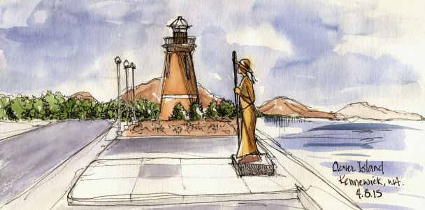 """Clover Island with Pioneer Woman and Lighthouse"""