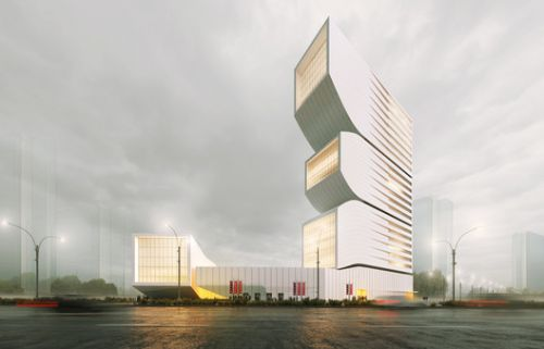 Nextoffice Designs Volumetric Mixed-Use Tower in Iran