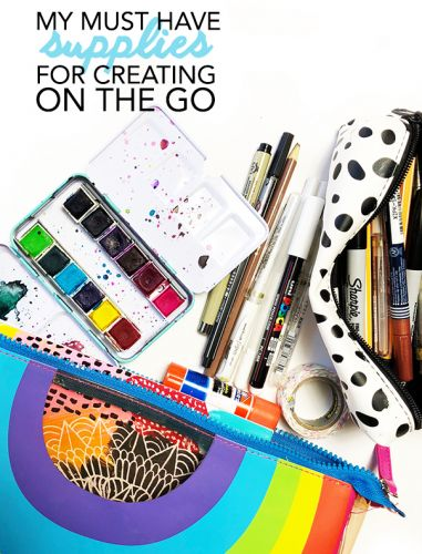 Supplies for creating on the go