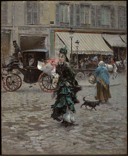 Up Close: Boldini's Crossing the Street