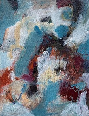 "Colorful Contemporary Art, Abstract Painting, Expressionism Painting, ""Sense of Place I"" by Portland Contemporary Artist Liz Thoresen"