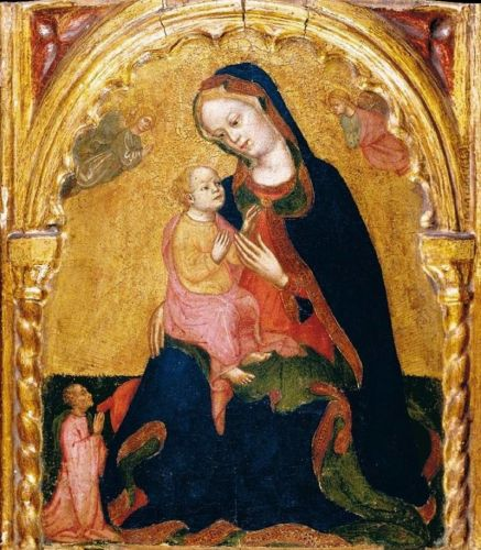 Madonnas attributed to Italian Zannino Di Pietro fl 1389-1448