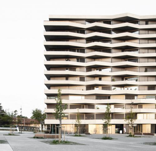 C3 Les Ailes Residential & Offices Tower / Aeby Perneger + Offices Tower