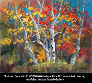 """""""Autumn Concerto II"""" by Niki Gulley Available at Seaside Gallery"""