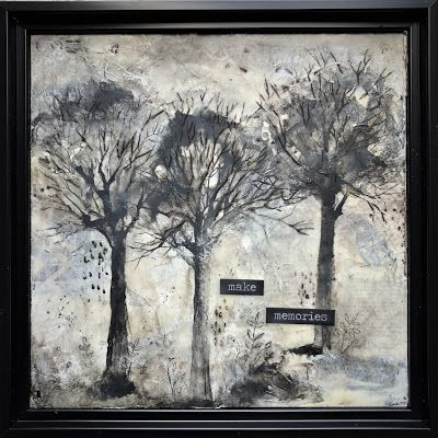 """Make Memories"", Original Encaustic/Mixed Media Painting by Colorado Artist, Donna L. Martin"