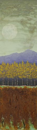 """Contemporary Landscape Art """"PATINA AND RUST MOON, MOUNTAINS"""