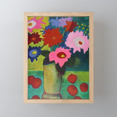 Fine Art Print, Contemporary Abstract Bold Expressive Still Life Flower Art Mini Print