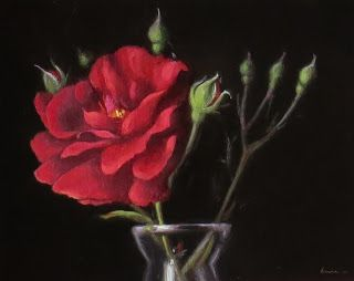 Still Life with Old-Fashioned Roses