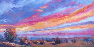 Morning Glory, New Contemporary Landscape Painting by Sheri Jones