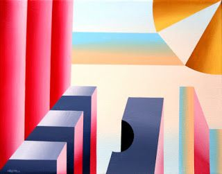 Mark Webster - Prism City Abstract Geometric Acrylic Painting