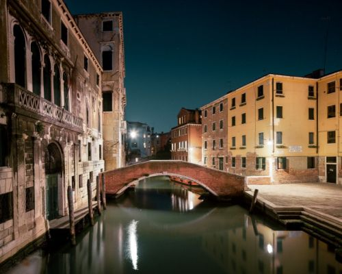 Photos of Venice Canals at Night