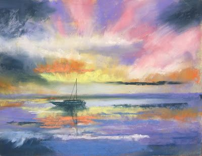 "Sunset Seascape, ""Fernandina Sunset,"" by Amy Whitehouse"