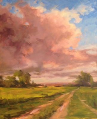 Pink Clouds on an Oklahoma Day by Margaret Aycock