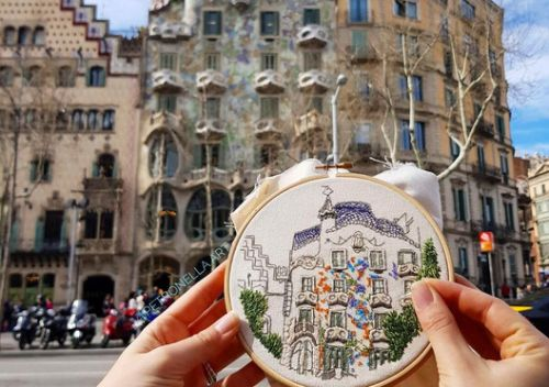 Architecture and Embroidery: Discover the Art of Elin Petronella and Charles Henry