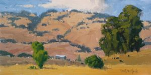 Rolling Hills - Sonoma County Painting - Petaluma Farm Painting - Landscape Painting - Art for the Home - Traditional Art