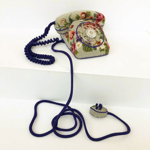 Vintage Cross-Stitch Motifs Conceal Common Household Objects in Sculptures by Ulla-Stina Wikander
