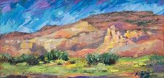 New Ghost Ranch, NM Palette Knife Oil Painting by Niki Gulley