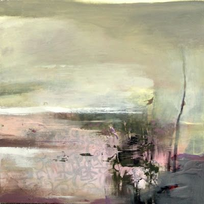 """Contemporary Abstract Landscape, Fine Art Painting """"A Deep Breath"""" by Intuitive Artist Joan Fullerton"""