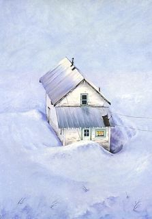 """Colorado Winter Snow Landscape Pastel Painting """"Alone But Not Lonely"""" by Colorado Artist Nancee Jean Busse"""